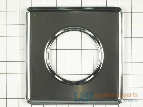 "11757427-1-S-Whirlpool-WPY0060872-Square Chrome Drip Pan (sides measuring 7-3/4"" each)"