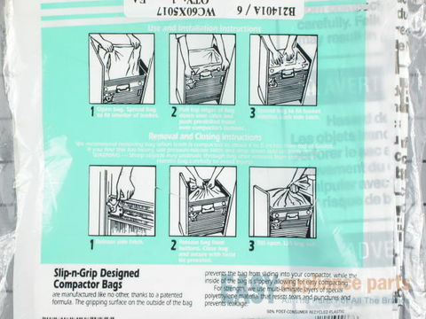 258002-2-S-GE-WC60X5017         -Compactor Bags - Package of 12