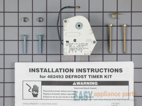 376605-2-S-Whirlpool-482493            -Defrost Timer Kit
